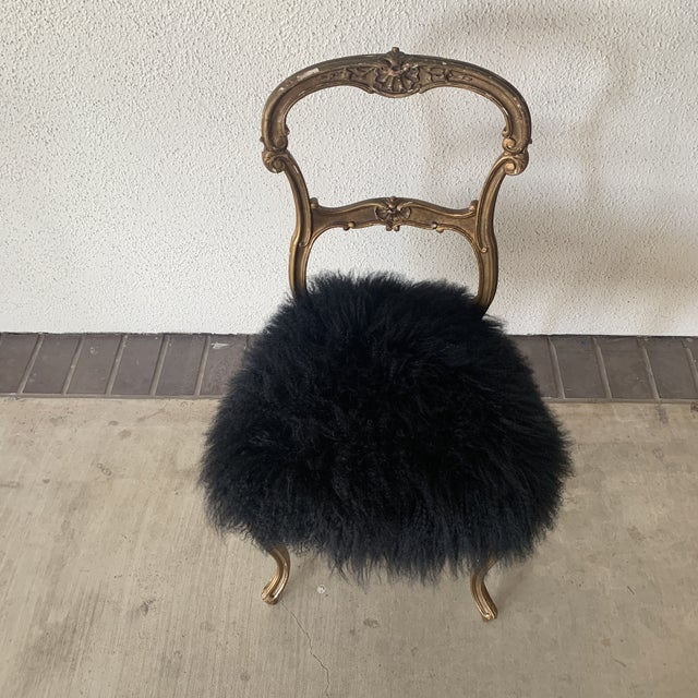 Contemporary 1920s Vintage Gilded Chair For Sale - Image 3 of 13