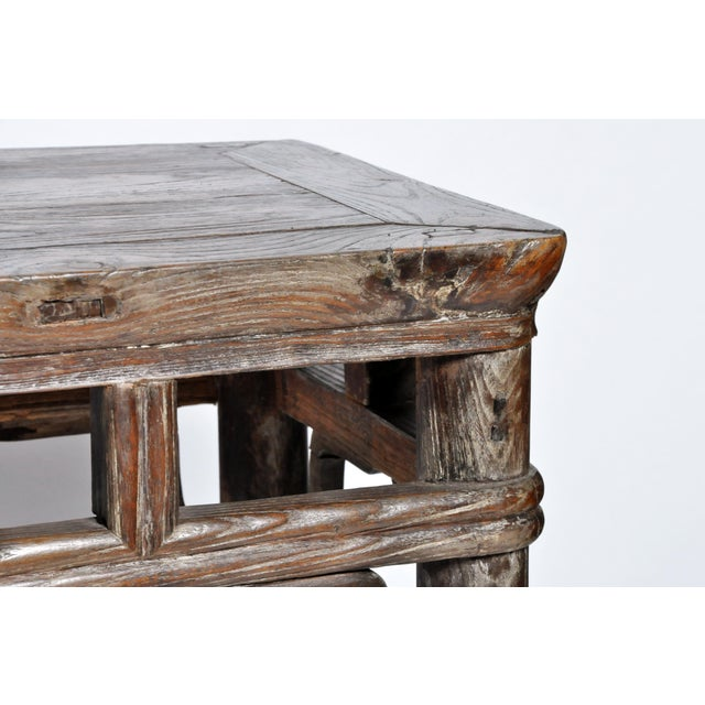Qing Dynasty Altar Table with Rounded Legs and Original Lacquer - Image 7 of 11