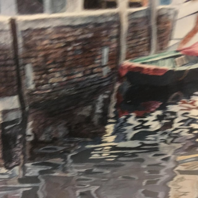 "Wood ""Venice Scene"" Artist Proof Signed Lithograph For Sale - Image 7 of 10"