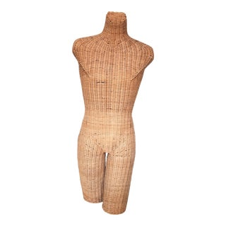 Vintage Wicker Mannequin Torso Androgynous Male Female For Sale