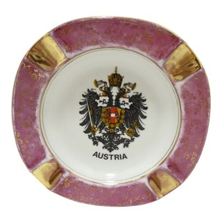 Austria Germany Ashtray with Heraldic Coat of Arms Eagles For Sale