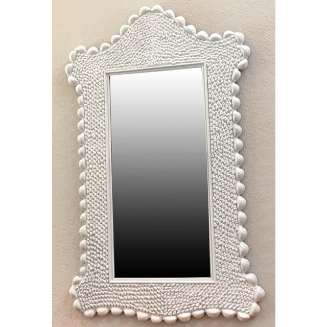 Mid Century Serge Roche Style Shell Encrusted Mirror For Sale In West Palm - Image 6 of 8