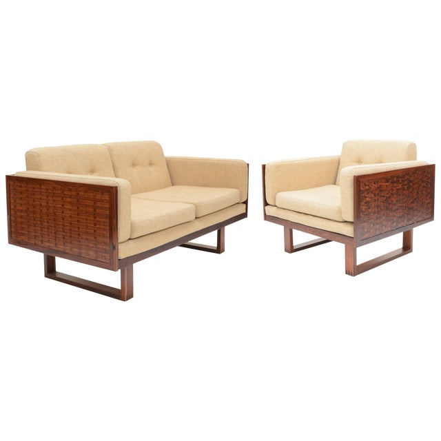 Poul Cadovius Two-Seat Sofa and Chair Set in Rosewood for France & Son For Sale