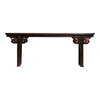 Chinese Solid Elm Wood Altar Table For Sale