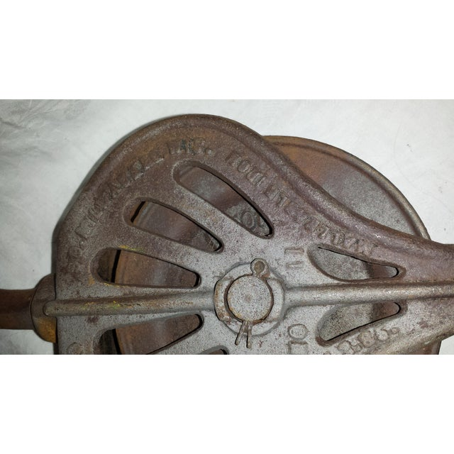 Antique 1800s Industrial Cast Iron Pulley For Sale In Sacramento - Image 6 of 6