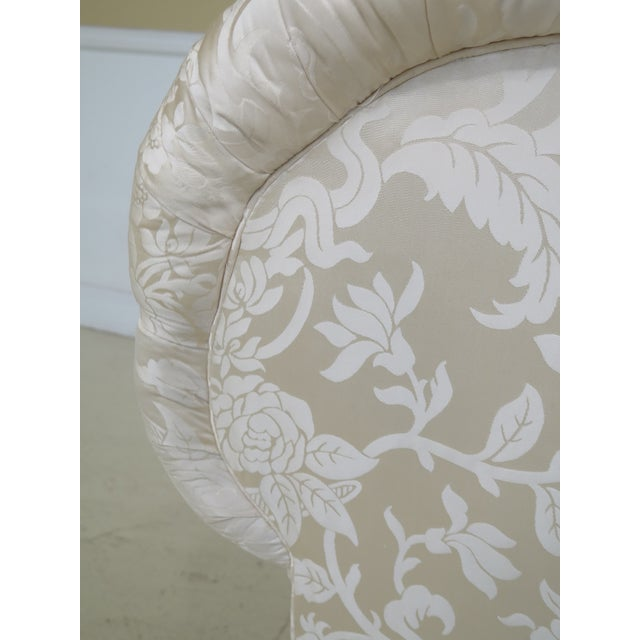 White Modern Ej Victor Silk Damask Upholstered Sofa For Sale - Image 8 of 11