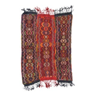 "Anatolian Turkish Jajim Kilim 4'6"" x 6'1"" For Sale"