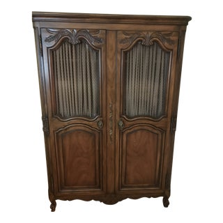 Karges French Louis XV Style Walnut Carved Armoire For Sale