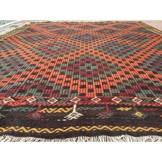 Boho Chic Vintage Handwoven Turkish Rug - 6'6'' x 8'6'' For Sale - Image 3 of 6