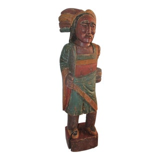 Cigar Store Indian Hand Carved and Painted, Counter For Sale