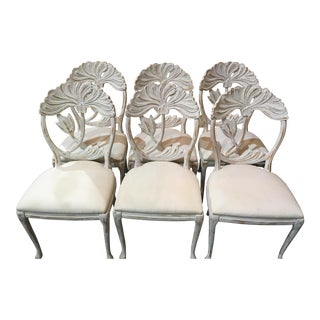 1960s Vintage Lily Back Dining Chairs- Set of 6 For Sale