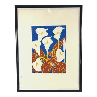 "Colorful Modern Artist Print ""Lillies"" by Ann T. Cooper For Sale"