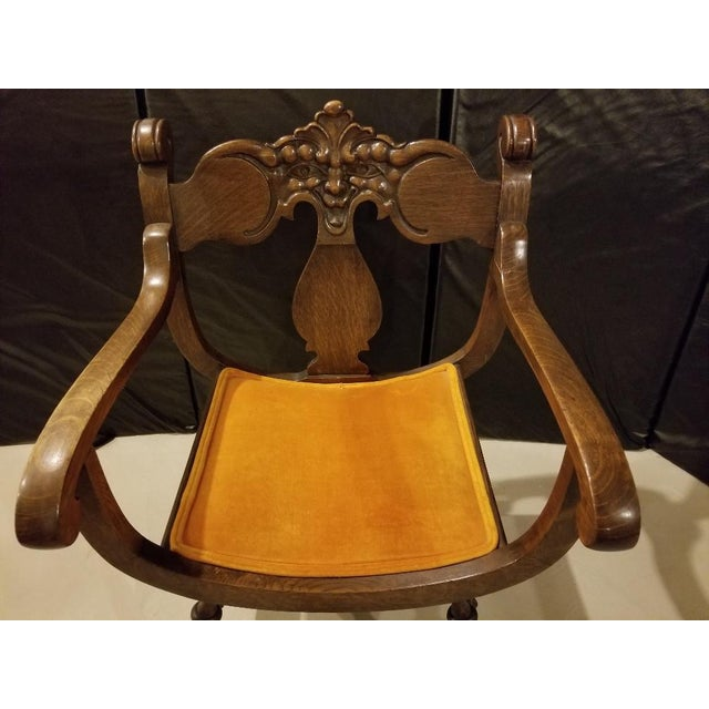 This cheerful chair had a place of honor in my grandmothers home from the mid 1950s onward. As kids, we fought over who...