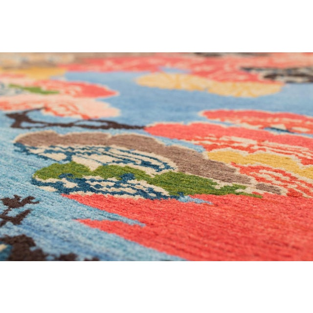 Vibrant Modern Floral Area Rug, 9'x12' For Sale - Image 4 of 5