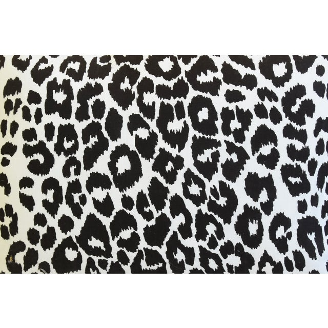 """Schumacher Schumacher Animal Leopard Spot & Leather Feather/Down Pillows 22"""" X 16"""" - Pair For Sale - Image 4 of 13"""