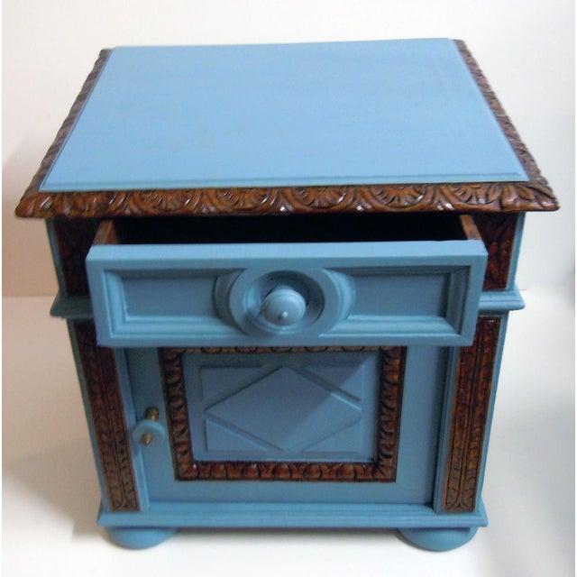 Blue Painted Mid-Century Nightstand - Image 4 of 9