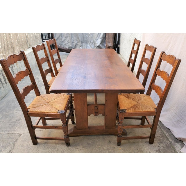 Wonderful antique table and chair set. This set was made in France during the late 1800s or early 1900's. The table was...