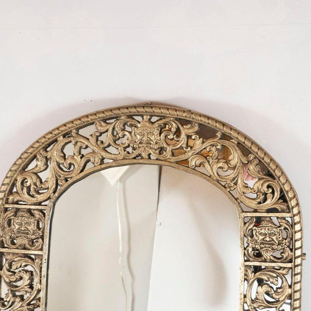 This sophisticated mirror was realized in the United States, circa 1935. Created in the manner of Edgar Brandt, the piece...