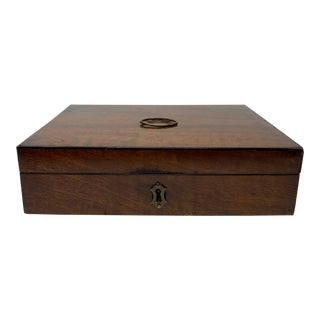 19th Century English Mahogany Document Box For Sale