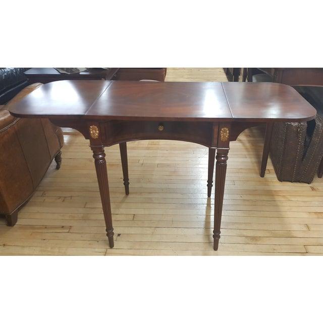 Maitland Smith Mahogany Pembroke Table For Sale - Image 12 of 12