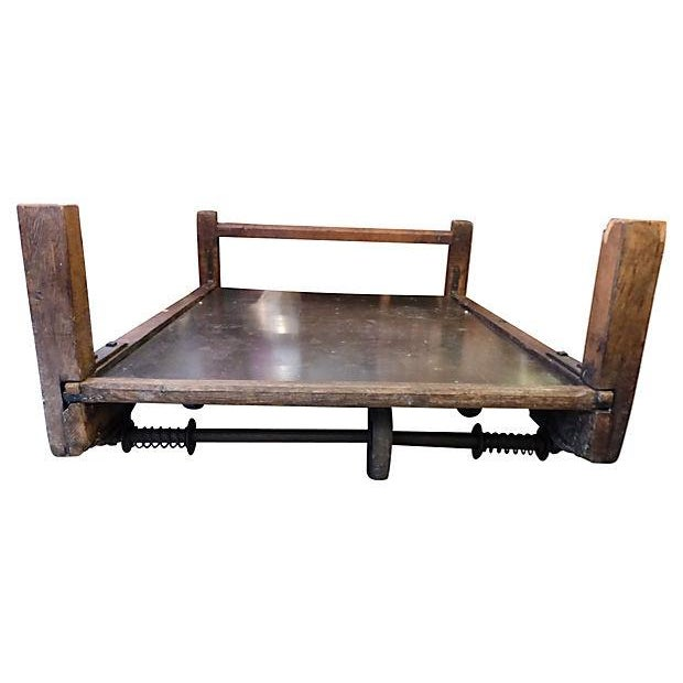 Old Industrial Cart Coffee Table: Large Industrial Cart Coffee Table