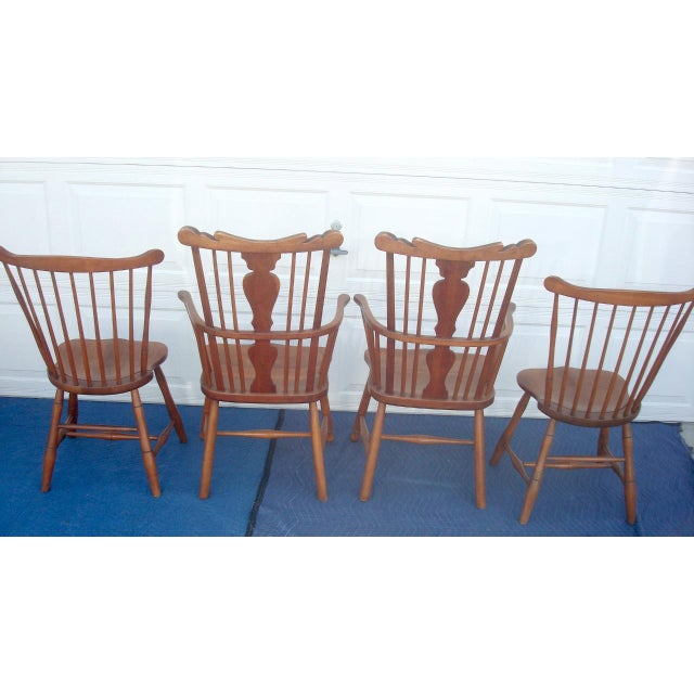 Cherry Wood Stickley Windsor Back Dining Chairs - Set of 6 For Sale - Image 7 of 11