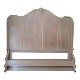 Henredon King Size Whitewash Oak Bed Frame For Sale