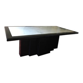 Black and White 1980s Dining Table For Sale