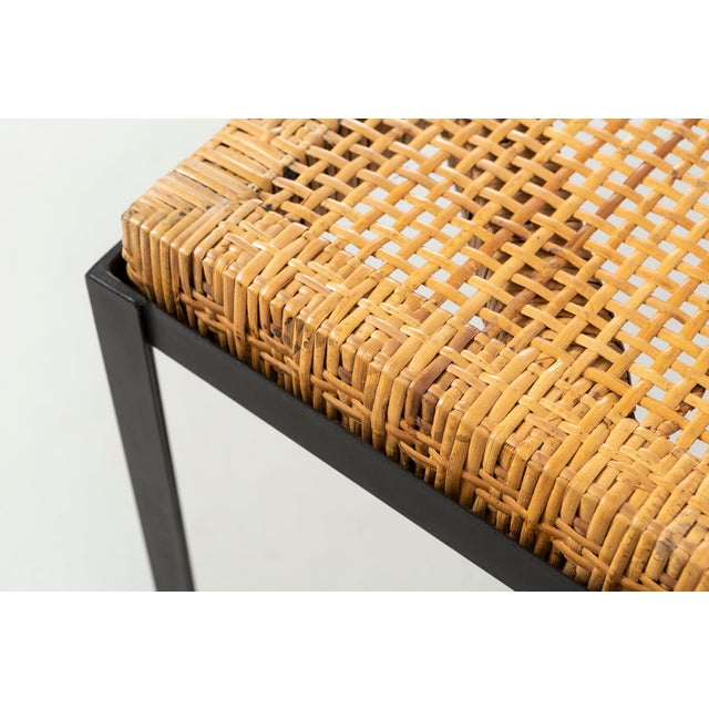 Glass Danny Ho Fong Hand-Woven Reed Dining Table For Sale - Image 7 of 11