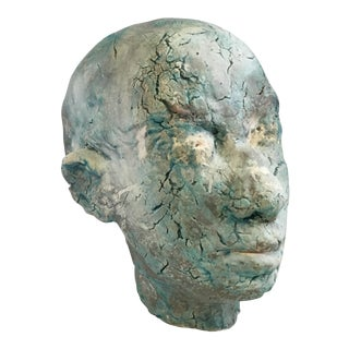 Male Bust Plaster Head Sculpture For Sale