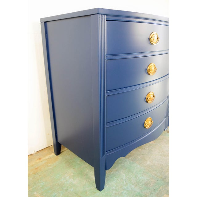 Late 19th Century 19th Century Boho Chic Bassett Navy Blue Lacquer and Gold Dresser For Sale - Image 5 of 11