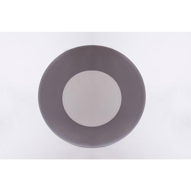 Fontana Arte 1970s Industrial Sfumato-Grey Mirror For Sale - Image 4 of 4
