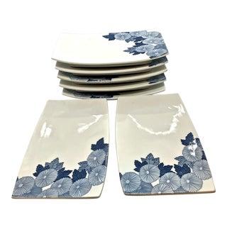 Vintage Japanese Sushi Plates - Set of 7 For Sale
