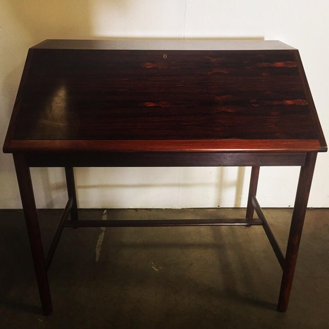 Great secretary desk. Made in Norway. Designed by Torbjørn Afdal. Great size for apartment or home. Swivel detail to open...