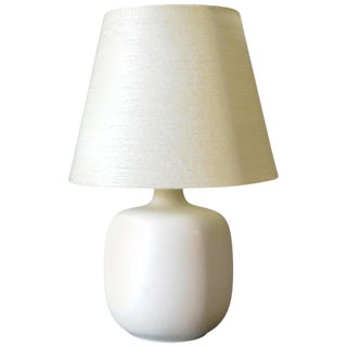 1960s Ivory Ceramic Table Lamp by Lotte and Gunnar Bostlund, Denmark For Sale