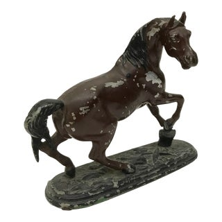 Antique French Rustic Spelter Horse Statue