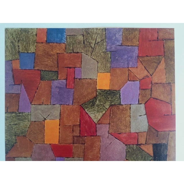 This vintage 1967 Mountain Village Autumnal 1934 original Abstract lithograph print is by the artist Paul Klee ( 1879 -...