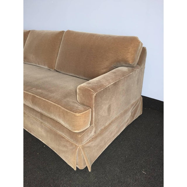 Mid-Century Modern Extra-Long Classic JMF Style Mohair Sofa For Sale - Image 3 of 5