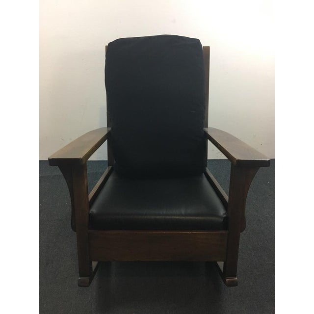 Get the Mission look you crave with this wonderful Vintage Rocking Chair and get the comfort you desire thanks to a plush...