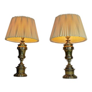 Stiffel Brass Hollywood Regency Lamps - a Pair