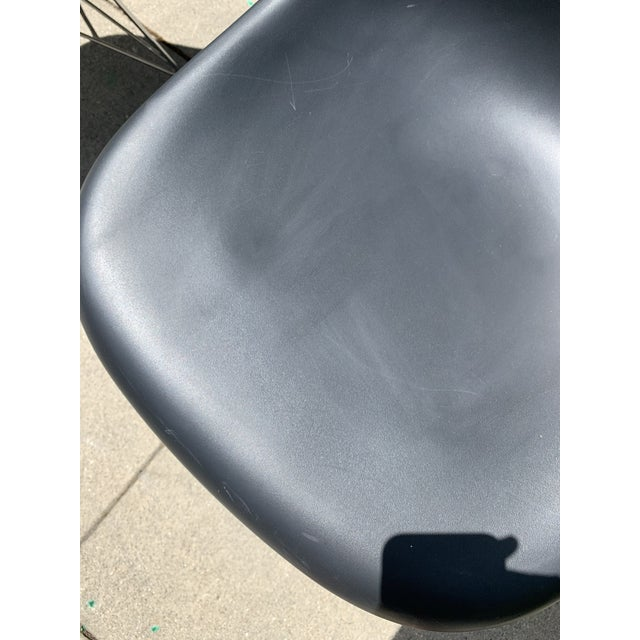 2000 - 2009 Black Eames Molded Plastic Side Chairs- Set of 4 For Sale - Image 5 of 9