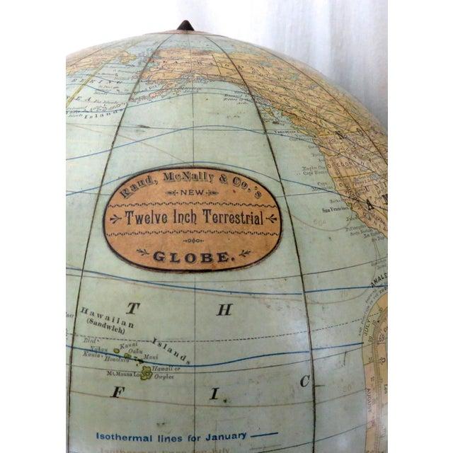 1920s Antique Rand McNally Twelve Inch Terrestrial Globe - Atlas For Sale - Image 5 of 13