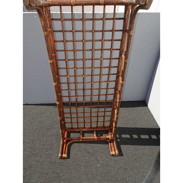 Vintage Mid Century Brown Bamboo Rattan Rustic Coffee Table For Sale - Image 10 of 11