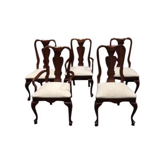 Chippendale Style Mahogany Chairs - 5 For Sale