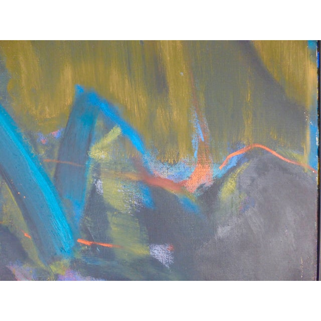 Mid-Century Abstract Oil Painting For Sale - Image 7 of 7