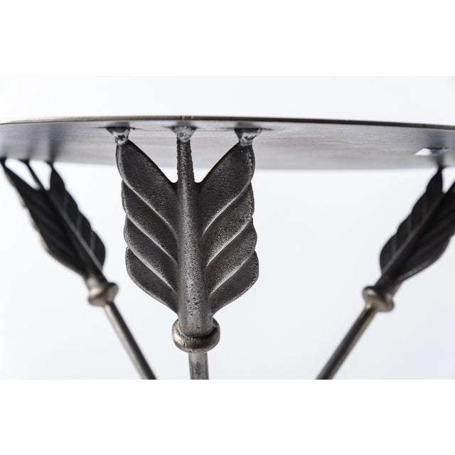 Metal Campaign Arrow Side Tables by Peter Jeal, A-Pair For Sale - Image 7 of 13
