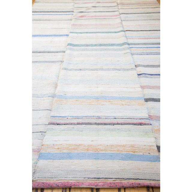 "Vintage Rag Rug Carpet - 6'6"" X 10'10"" - Image 4 of 7"