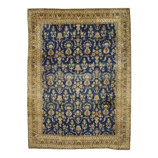 Antique Persian Kerman Area Rug with Hollywood Regency Style