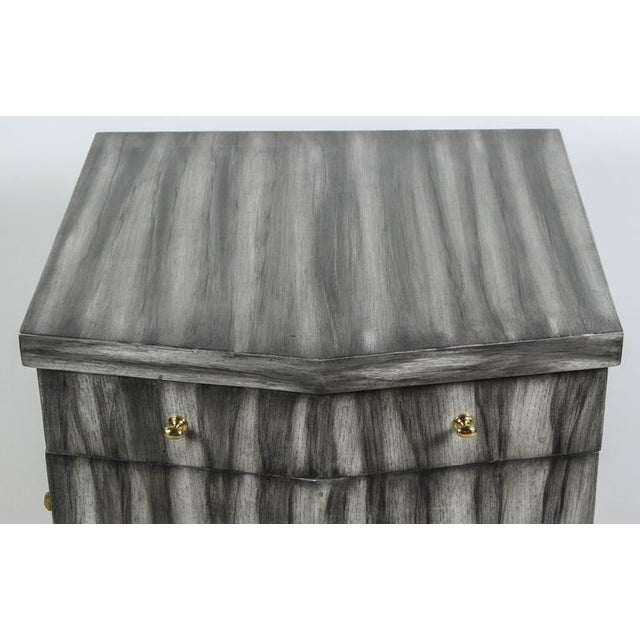 Paul Marra Pinnacle Nightstand in Zebra Finish For Sale In Los Angeles - Image 6 of 9