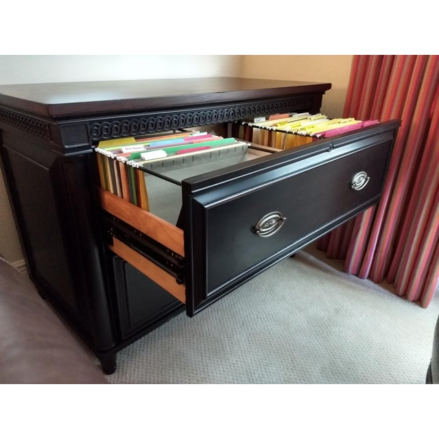 Elegant Two-Drawer Lateral File Cabinet Credenza - (Aspenhome: Young Classics Office Collection) For Sale - Image 11 of 13